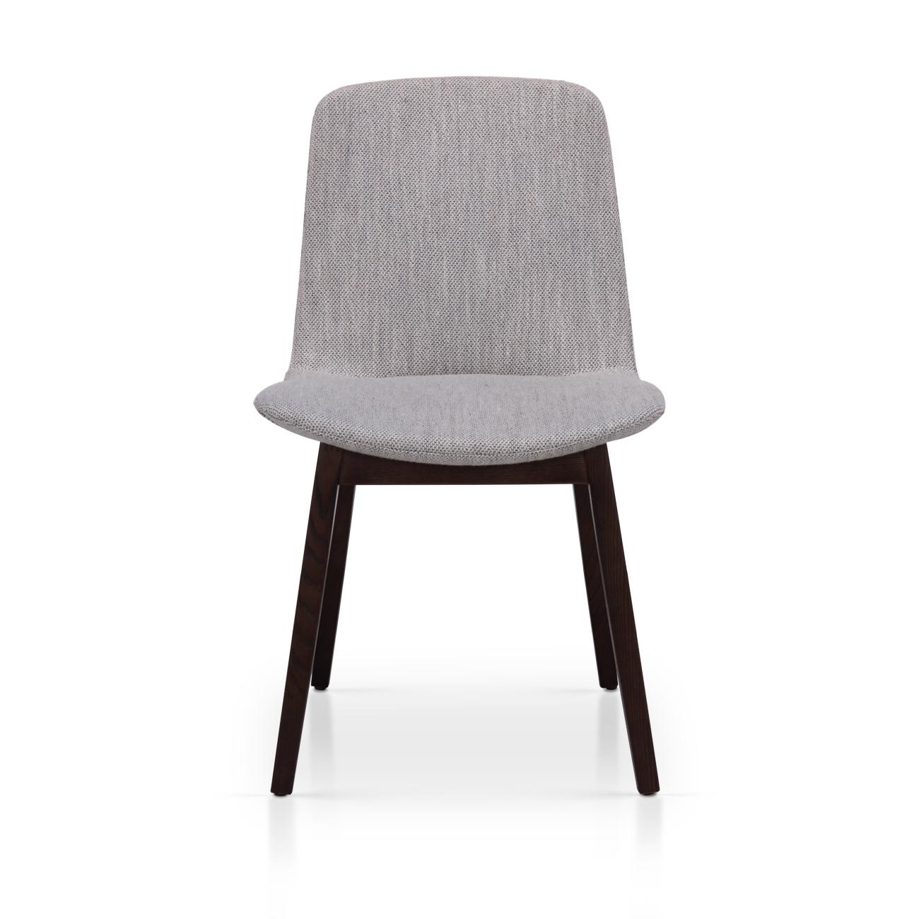椅子  实木棉麻餐椅丨进口棉...