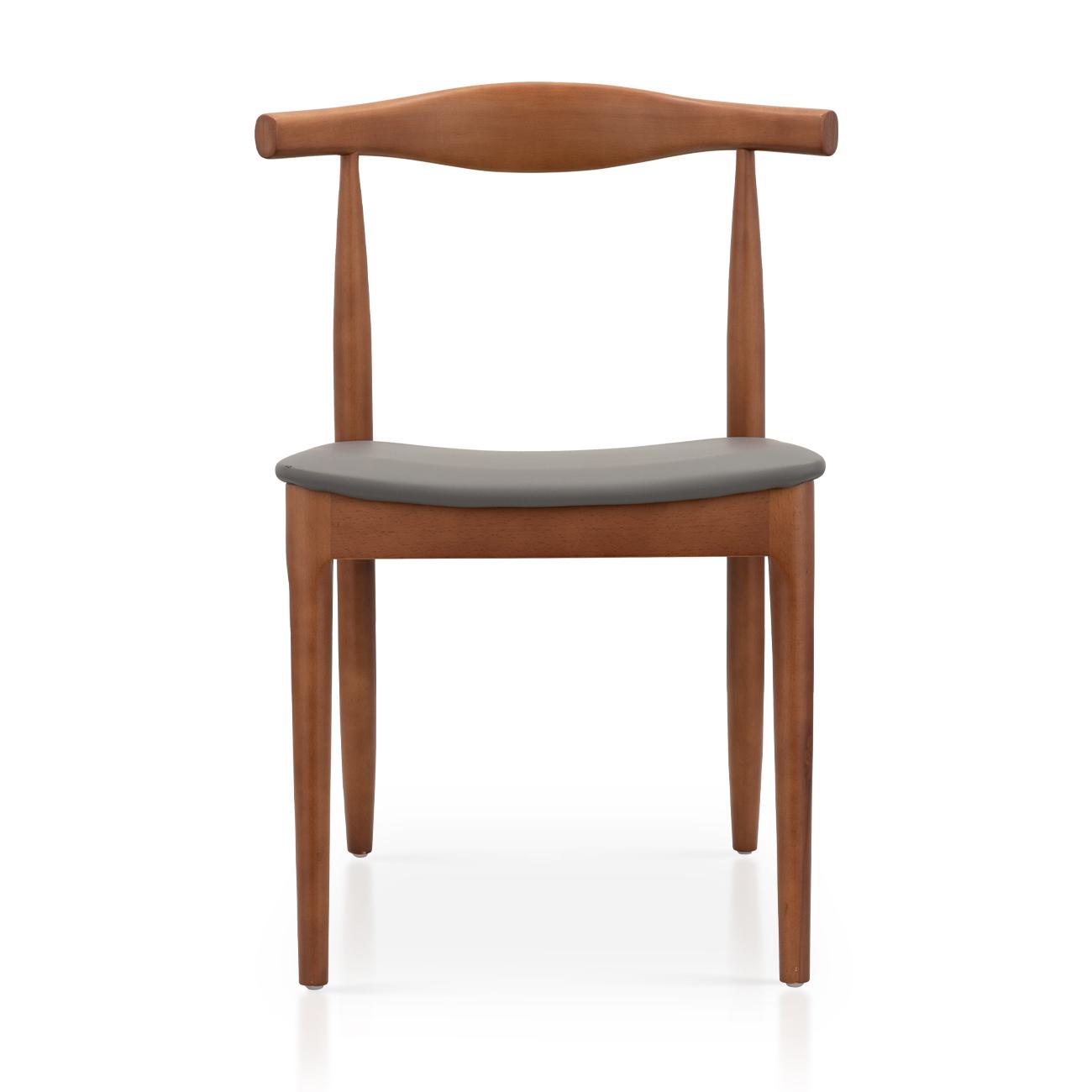 餐椅(红橡色)丨超纤皮白蜡木 ...