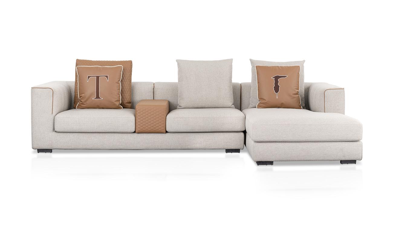 现代布艺沙发丨进口超纤皮+亚麻...